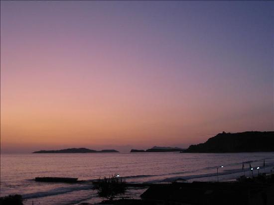 Arillas Beach: Arillas sunset September 2009