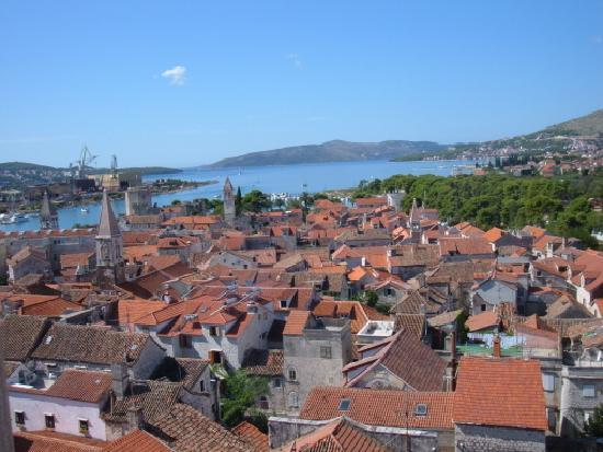 Weltkulturerbestätte Trogir: View of Trogir from the belfry