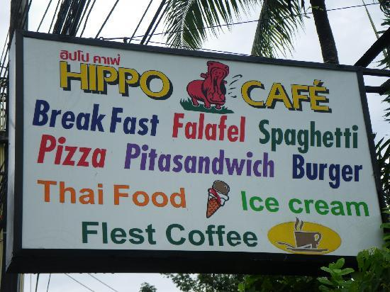 Hippo Cafe : The Hipo Cafe Sign