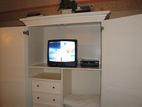 "Clarion Collection Carmel By The Sea: The 19"" TV In the Giant Dated Armoire"