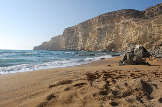 Matala, Greece: Red Beach