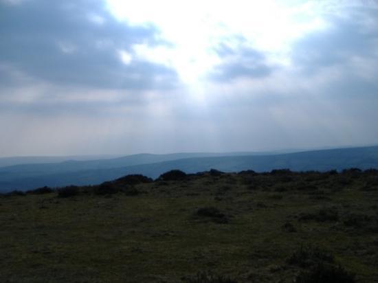 Dartmoor National Park, UK: Clouds breaking over Dartmoor
