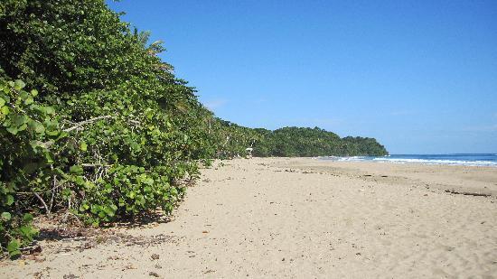 C & J Cabinas: local beach 10 min walk away