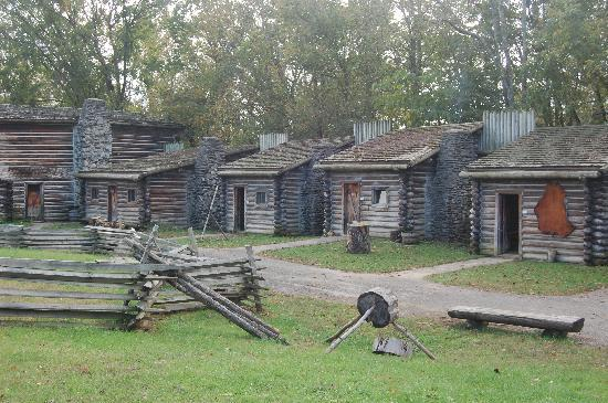 Fort Boonesborough State Park: Cabins Inside The Fort