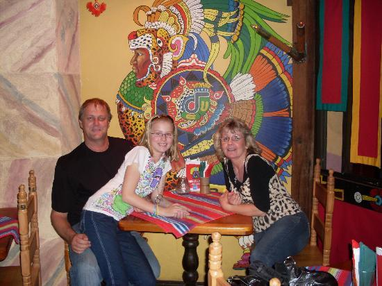 Mexican Montezuma's Surfers Paradise: the waitress took a photo of us for us which was nice
