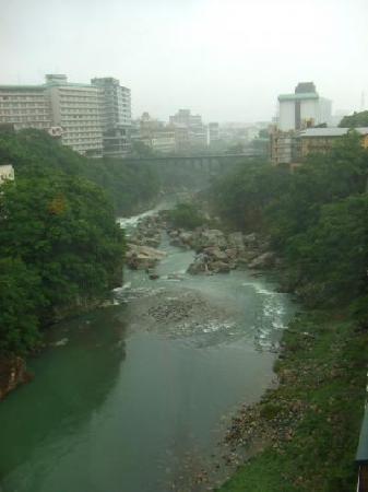 Kinugawa Plaza Hotel: 部屋から見える鬼怒川