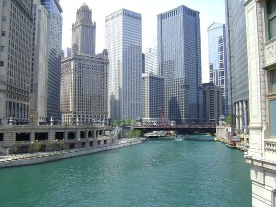 Chicago River, along Wacker Drive!