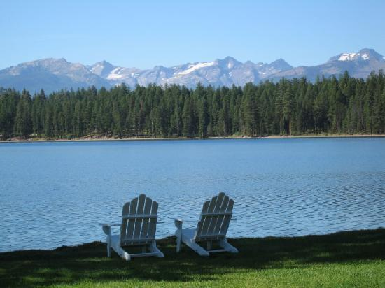 Holland Lake Lodge: view from main lodge & dining room