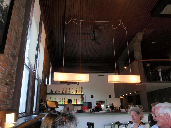 Firehouse Grill: Above the bar.