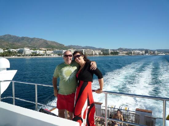La Villa Marbella : On the catamaran ferry to Puerto Banus