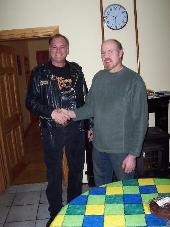 Clearwater House B&B : me and the owner robert