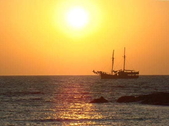 Louis Ledra Beach: Boat at Sunset