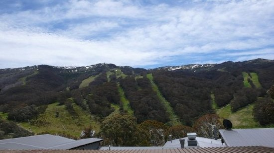 Thredbo Village, Australia: the ski field in the summer