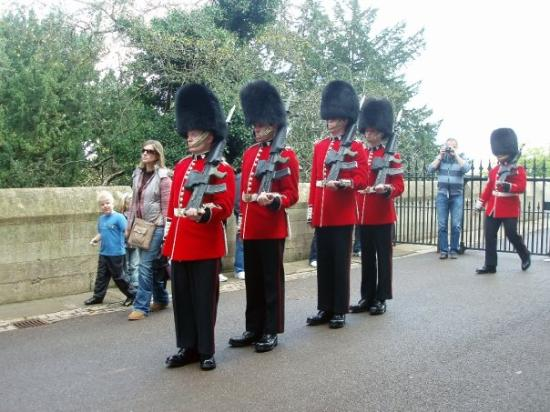 guards with the poofy hats picture of windsor windsor and