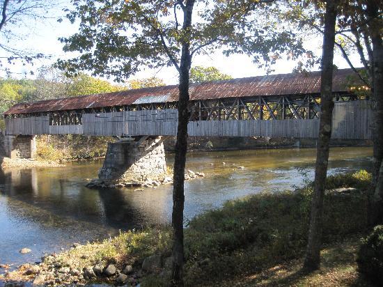Covered Bridge Farm Table: The covered bridge at the restaurant.