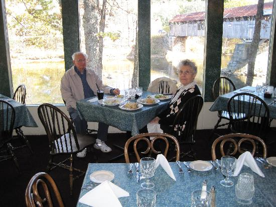 Covered Bridge Farm Table: My wife and I.