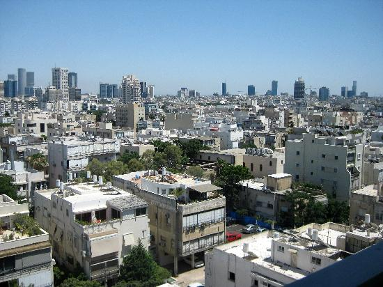 Melody Hotel   Tel Aviv - an Atlas Boutique Hotel: View of Tel Aviv from our window.