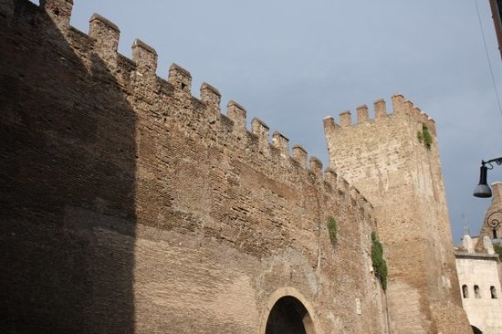 Roman Walls: Part of the surviving wall around Rome.
