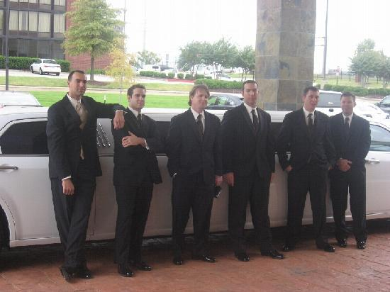 Horn Lake, MS: Groom and Groomsmen at LaQuinta entrance