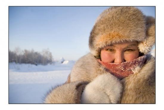 Yakutsk, Rusland: Vera by -52 C