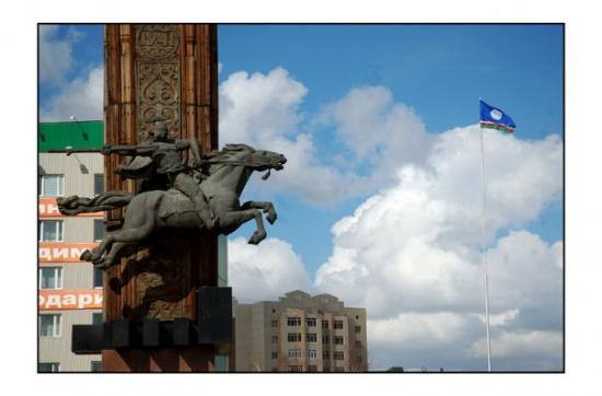 Yakutsk, Rusia: le guerrier de yakoutsk
