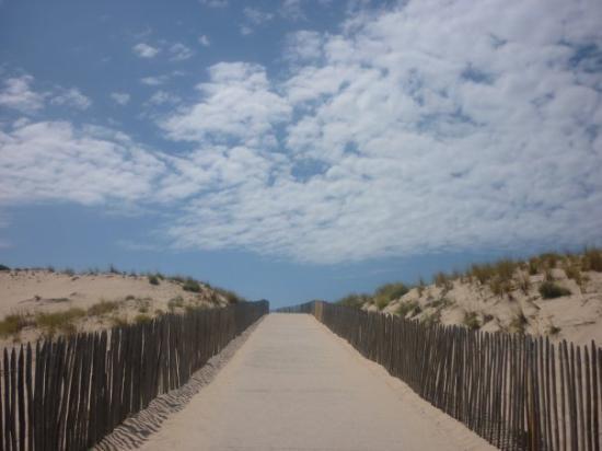 Lacanau-Ocean, Prancis: Le chemin de la plage à Carcans