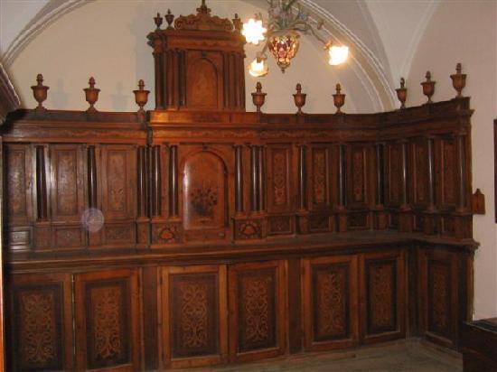 Francavilla di Sicilia, Italia: I lavori in legno del Fu Fra Mariano Tatì