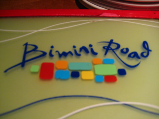 Bimini Road: the menu