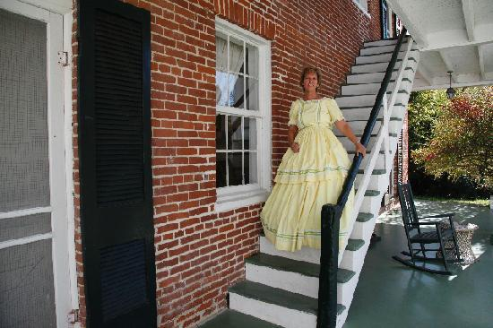 Elgin Plantation Bed and Breakfast : Dress up outside on B&B Staircase