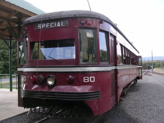 the electric city trolley station and museum restored trolley car