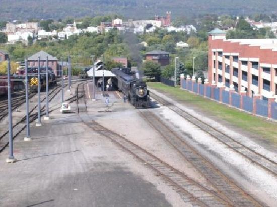 ‪‪Scranton‬, بنسيلفانيا: View over the train yard‬