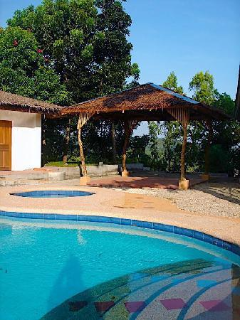 Punta Del Este: Pool and kubo at Sarimanok villa B&B