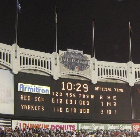 View of the Scoreboard at the End of the Game, Red Sox Won ... | 459 x 450 jpeg 34kB