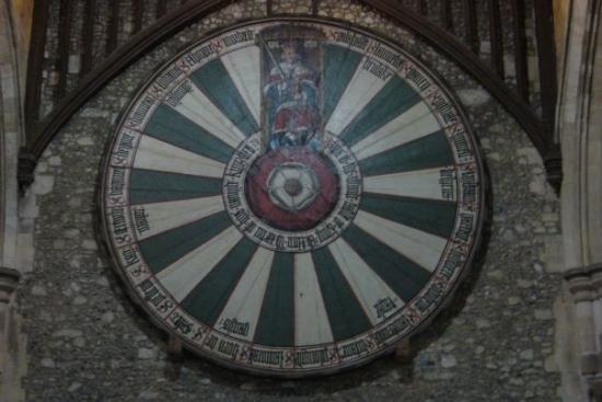 Ronde Tafel Koning Arthur.De Ronde Tafel Van King Arthur Foto Van Winchester Hampshire