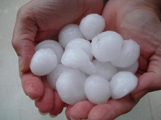 Almond Holiday Village: These hailstones wouldn't disgrace a gin & tonic