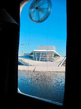 new Oslo opera house, seem from Innvik B&B