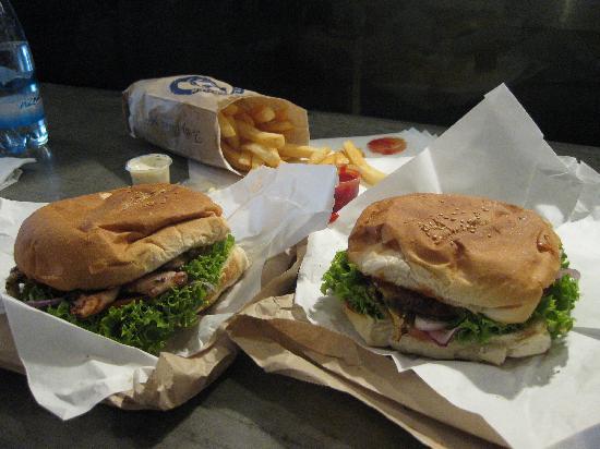 Fergburger: burger, chicken sandwich, and fries...mmm