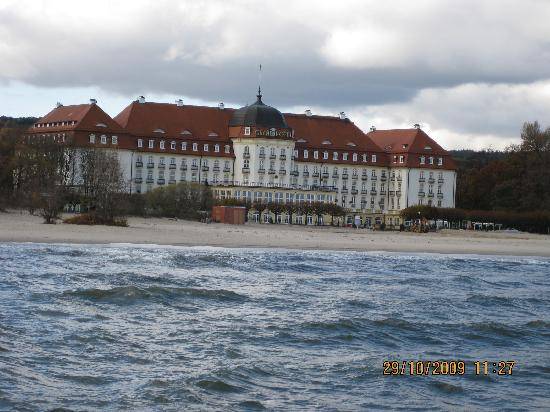 Sofitel Grand Sopot: Seen from the pier