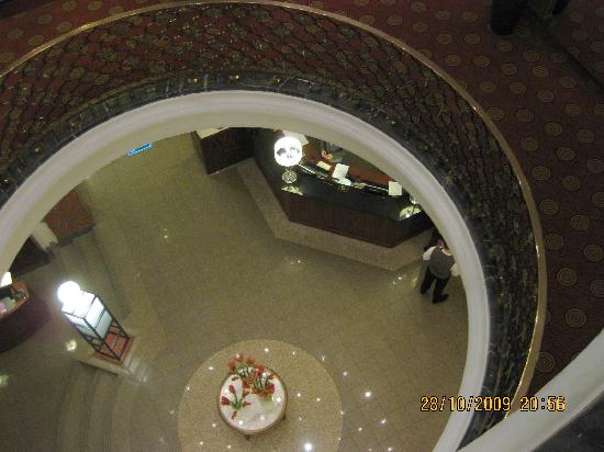 Sofitel Grand Sopot: Reception seen from 3rd floor