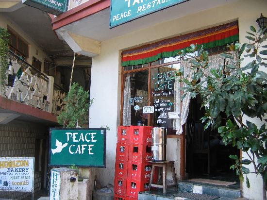 Entrance to Peace Cafe