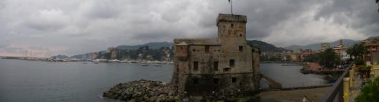 Rapallo, Italy: Rapello, Italy - view immediately beyond the hotel room private balcony.
