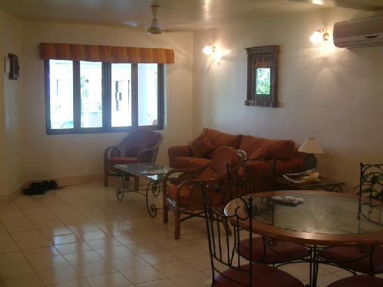Karma Royal Benaulim: A view of our suite. A one bedroom suite on the ground floor. They also have a few studio apartm
