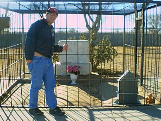 Fort Sumner, NM: Me at Billy the Kid's grave