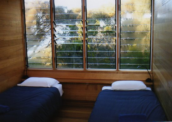 Bedroom at Bay of Fires Lodge, Tasmania.