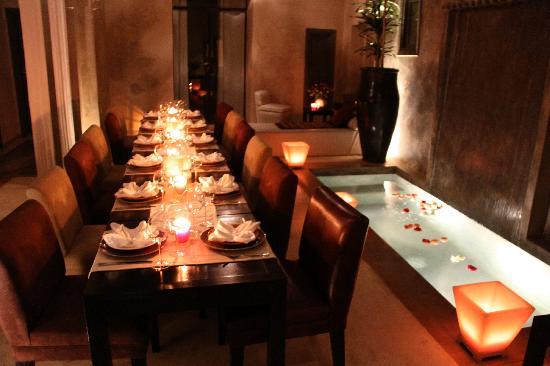 Riad Dar One: patio -salle à manger
