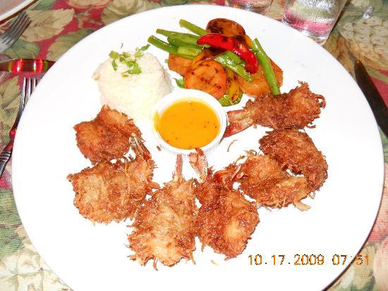 Topolo: coconut shrimp