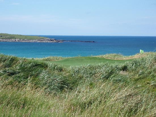 Narin & Portnoo Golf Club : Looking at a previous green from the next tee
