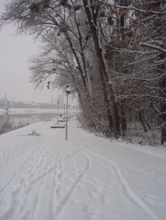 Osijek, Croatia: Left bank of Drava river