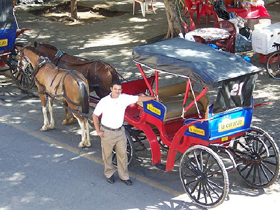 Hotel Plaza Colon: Javier and his number 21 Carriage