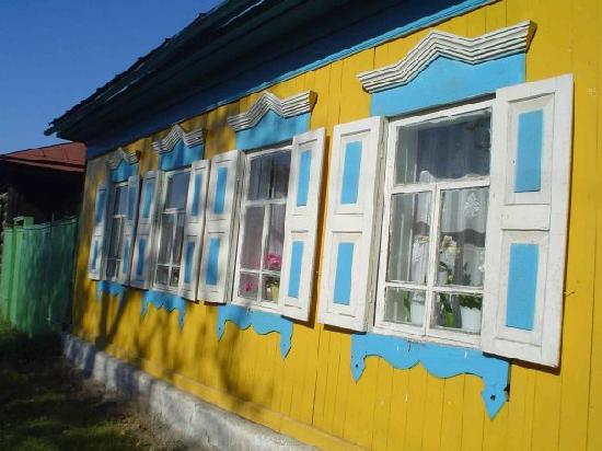 Siberian District, Rusia: Listvyanka village house